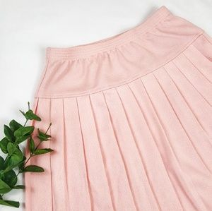 Alfred Dunner Women's Blush Pink Pleated Skirt 14